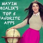 Mayim Bialik's Top 5 Favorite Apps