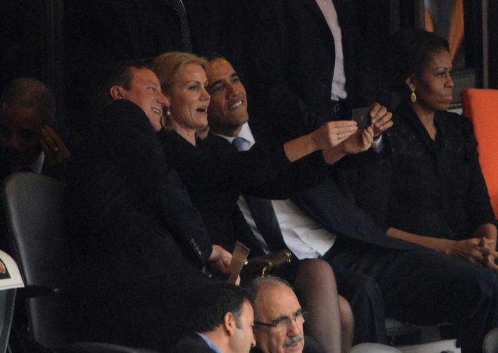 Presidents! They're just like us! They take selfies!