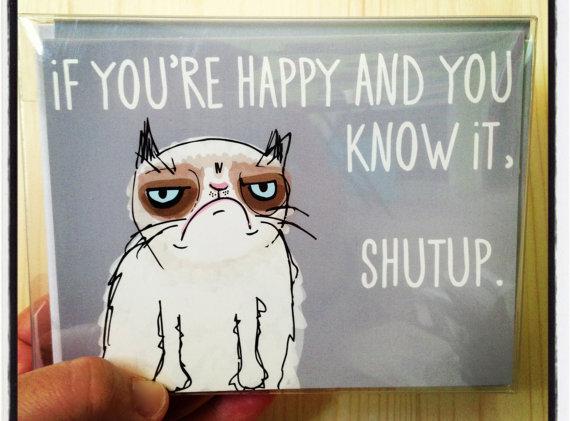 grumpy cat meme card love is in the air - Grumpy Cat Valentine