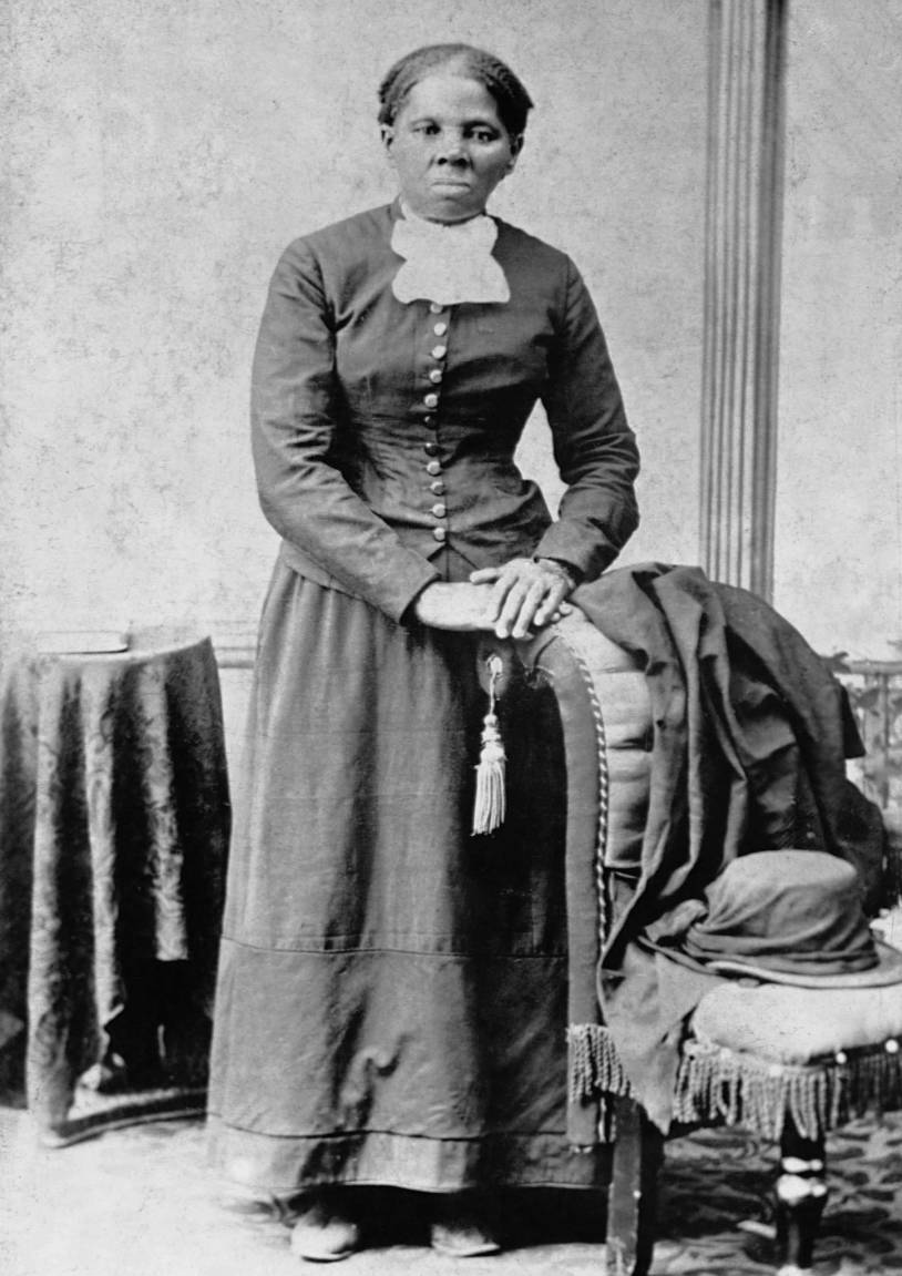 "ca. 1860s --- A portrait of Harriet Tubman (ca. 1820-1913). Tubman, herself an escaped slave, helped hundreds of slaves escape the South by means of the Underground Railroad. She nursed Union troops during the Civil War and took on spying missions at great personal risk. She is known as the ""Moses of Her People."" 